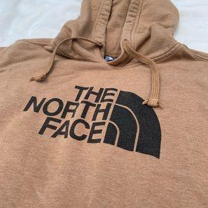 Tan North Face sweatshirt